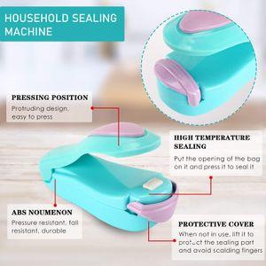 Mini Portable Heat Sealing Machine Electric Household Food Saver Plastic Vacuum Bag Sealer Storage Snacks Packing Plastic Bag Clip LLE7497