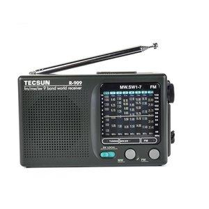 LY TECSUN R-909 R909 라디오 FM / MW SW 9 밴드 워드 수신기 휴대용 스테레오 편리