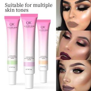 QIC Primer Makeup Full Coverage Liquid Long Lasting Foundation Cream For Face Shade Make Up Base 30g