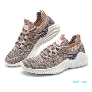 2021 Classic Comfortable Casual Shoes for Mens Breathable Men's Athletic Shoes Fly Weave Jogging Shoe High Quality Lightweight Fashion Black