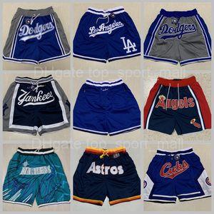 Team Baseball Shorts Just Don Sport Wear Pants With Pocket Zipper Sweatpants Blue White Black Men