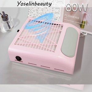 Nail Art Equipment 80W Vacuum Dust Collect Professional Cleaner For Nails With Strong Power Extractor Fan Manicure Salon Tool