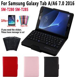 SM-T280 SM-T285 Cover Detach Bluetooth Keyboard Case for Samsung Galaxy Tab A A6 7.0 7 inch 2016 T280 T285 Case with Keyboard
