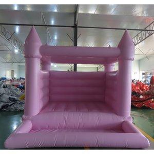 3,5x3m розовая надувная свадьба домохозяйственный домик открытый надувной замок на открытом воздухе с бассейном для детей и взрослых коммерческими надувной домиком джемпера