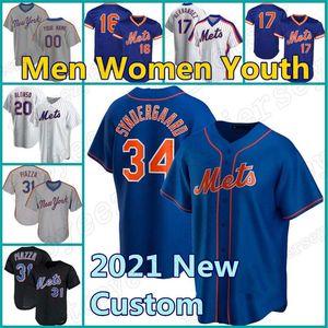 Mets Jersey Custom 12 Francisco 20 Pete Alonso Lindor 48 Jacob Degrom Baseball York Darryl Strawberry Mike Piazza Conforto David Wright