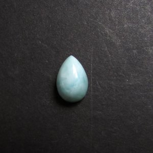Loose Diamonds Natural Larimar Gemstone Cabochon Pear 5x8mm