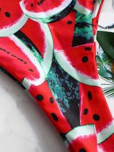 Para Praia 2020 Сексуальный бразильский бикини набор Купальники белые женщины купальник арбуз печать бикини купальный костюм