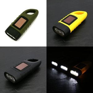 Mini Emergency Hand Crank Dynamo Solar Powered Flashlight Torch Rechargeable LED Light Lamp Powerful Torch r Camping Outdoor Free DHL 480 X2