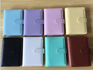 A5 A6 Cuaderno Cuaderno Cuaderno de hojas sueltas Cuadernos recargables 6 Carpeta de anillo para A6 Funda de carpeta de papel de relleno con stock de cierre de hebilla magnética
