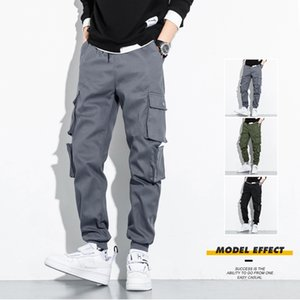 Mens Stylist Track Pant Casual Men's Cargo Pants Designer Baggy Good Quality Cotton Trousers Combat Tactical Long Pants Multi Pockets J33