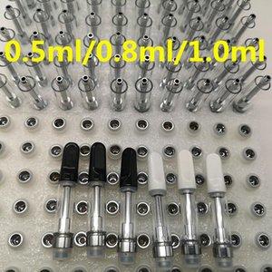 Ceramic Vape Cartridge Packaging Empty Vape Pen 510 Thread Cartridges 0.5ML 0.8ML 1ML Glass Oil Atomizer E Cigarettes Vape Carts Vaporizer TH205