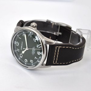 Corgeut-41mm Erkek İzle Miyota8215 Otomatik Hareketi Gümüş 316L Paslanmaz Çelik Kılıf Yeşil Aydınlık Dial Eller Su Geçirmez Saatı