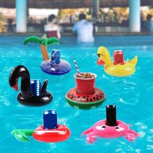 Decoración de fiesta Soporte de taza flotante Anillo de natación Juguetes de agua Party Beverage Books Baby Pool Inflable Bebida Holders Bar Posavasos de playa DHL