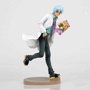 Anime Gintama Sakata Gintoki PVC Действие Фигура Коллекционная Модель Кукла Игрушка 22см Q0722