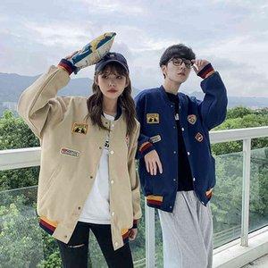 Ackets 2021 Tiro real Parejas Ropa Otoño Invierno Nuevos productos Youzhao hombres mujeres con la misma chaqueta suelta y hermosa tendencia