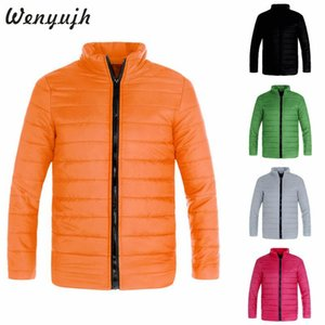 Men's Down & Parkas Wenyujh Autumn Winter Hiking Jacket Coat Keep Warm Zipper Pocket Plus Size Outerwear Solid Thick Parka Tops