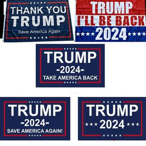 Trump Flag 2024 Election Flag Banner Donald Trump Flag Save America Again 150*90cm Thank You Trump Flags 3*5feet RRE5270