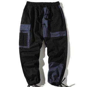 Мужские брюки хип-хоп Sportswear Lokle-Manage Cargo мужчины повседневные свободные спортивные штаны Fitness Joggers High Street брюки
