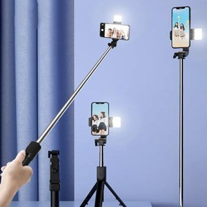 Selfie Monopods Wireless Bluetooth Stick 3 In 1 Foldable Mini Tripod With Fill Light Remote Control Extendable Phone For Smartphone