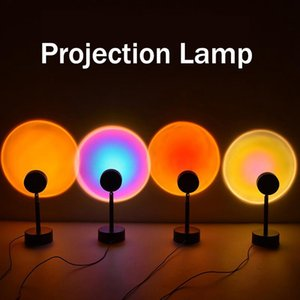HaoXin Sunset Projector Lamps 180 Degree Rotation Rainbow Sun Mode Night Light USB Romantic Projection Lamp for Party Theme Bedroom Decor