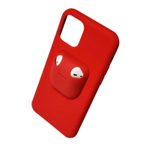 Creative and functional mobile phone protection iPhone12 silicone case AirPods 1 and 2 generation Bluetooth ear case iPhoneX DZ44