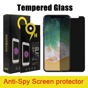 Anti-Spy Privacy Tempered Glass Screen Protector for iphone 12 pro max x xr 7 8 plus with package and LG K51 Stylo 6 MOTO G Stylus A20 A10E