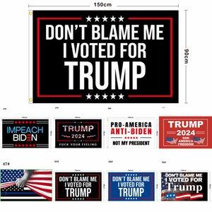 86 Дизайн Прямой завод 3x5 Ft 90 * 150 см Сохранить Америку снова Трамп Флаг для 2024 Президент США DHL 3-7 дней Корабль