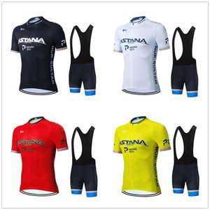 ASTANA Cycling Clothing 2021 Pro Team Men's Summer Cycling Jersey Set Breathable Short Sleeve Bicycle Jersey Bib Shorts Suit Ropa Ciclismo