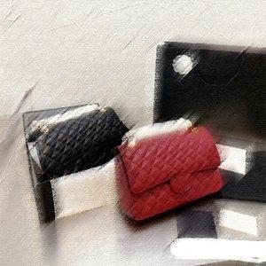 5A + 패션 디자이너 정품 가죽 크로스 가방 고급 가방 고전 스타일 스트라이프 디자인 어깨 핸드백 마름모 패턴 토트 핸드백