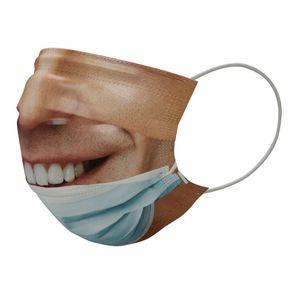 Новое искусственное лицо Крутые смешные взрослые притворяются не носить маску FaceeMask хлопковые маски поддельные реалистичные специальные хитрые партии маска EEB5836