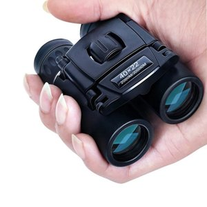 40x22 HD Powerful Binoculars 2000M Long Range Folding Mini Telescope BAK4 FMC Optics For Hunting Sports Outdoor Camping Travel 210319