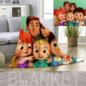Child Kid Cartoon Blanket Cocomelon Ji Flannel Blankets Bed Sheet Summer Nap Quilt Cover Bedding CoCo Melon Carpet Bath Beach Towel gG3886HE