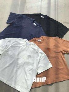 Abbigliamento 2021 AMI HOMME T Shirt Mens Men Designer Felpe con cappuccio High Street Stampa T Shirt S-M-L-SL-XXL F10