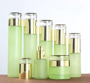 80pcs 20ml 30 ml 40 ml 60ml 80 ml 100 ml 100 ml de bouteille de verre givrée de verre givré de 100 ml de 100 ml vides de lotion rechargeable de pulvérisation de pompes de pompes de cosmétiques