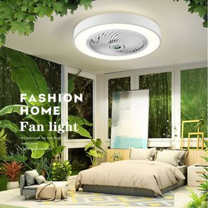 Ceiling Fans Modern Minimalist Bedroom Fan Lamp Dining Room Living LED Invisible Chandelier Integrated