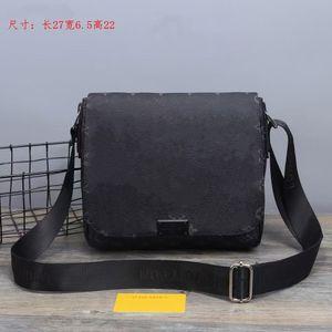 2021 Designer Cross body Men Pu Leather Handbag Black Briefcase Brown Laptop Shoulder Bag Messenger Bag 28cm