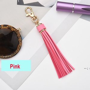 5.9'' PU Leather Tassel DIY Pendant With Lobster Swivel Keychain For Handbag Phone Car Key Jewelry BWA5245