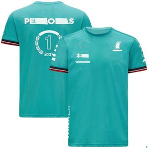 F1-2021 racing suit team short-sleeved , polyester quick-drying T-shirt, the same style is customized