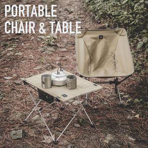 Chaises de pique-nique de camping en plein air ultralight pliage de tables portables pliantes pour équipement en alliage d'aluminium