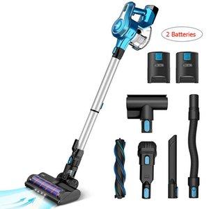 Staubsauger Cordless Cleaner 250W Brushless Motor Stick Vacumes 40 Minuten Laufzeithaushalt mit 2 Batterien