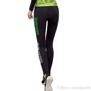 2020 Großhandel Womens Sports Digner Hosen Yoga Legns Tuser Fassin Training Übung Brief Gedruckte Hosen Running Fitness Strumpfhosen Hosen