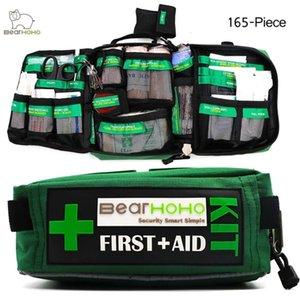 Bearhoho Handy First Aid Kit Bag Carry Emergency Emergency Rescue Salvataggio all'aperto Auto Bagaglio Scuola Escursioni Kit di sopravvivenza Y200920