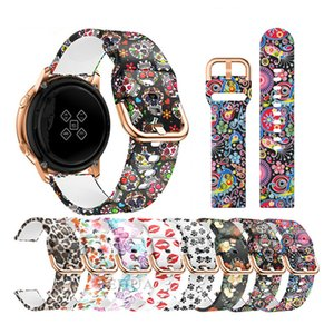 20 22mm Straps Flower Leopard Grain Red Lip Printing Watchband Silicone Band for Samsung Galaxy Watch Active 2 Huawei Watch Band Garmin