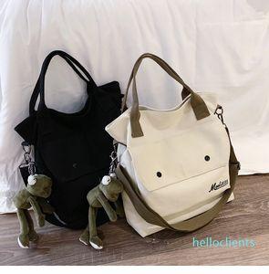 harajuku sail cloth bag cross-body handbags Korean student retro large capacity single-shoulder b ag