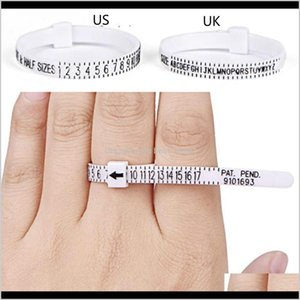 Professional Ring Sizer Uk Us Official British American Finger Measure Gauge Men And Womens Sizes A-Z Jewelry Accessory Fkvjr Wjxqn