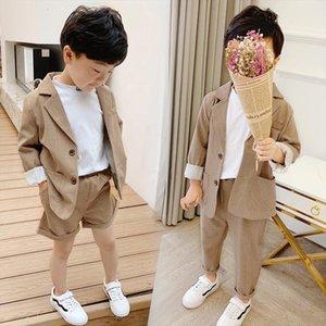 Summer Boys Girls Suits For Weddings Kids Blazer School Dress Boy Costume Toddler Set Girl Children Clothes