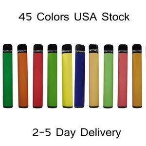 ABD Stok 800Puffs Tek Kullanımlık Vape Cihazları E Sigaralar 3.2 ml Buharlaştırıcı 550 mAh Pil Starter Kitleri 45 Renkler 2-5 Gün Teslimat Boş Custom Made