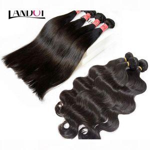 15 Bundles Lot Brazilian Peruvian Virgin Hair Body Wave Unprocessed Brazilian Human Hair Weaves Weft Peruvian Hair Bundles Silk Double Weft