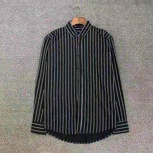 Business camicia da uomo Designer personalizzato abito di lusso abito di alta qualità plaid lettera stampa ricamo modello resistente alle rughe abiti traspiranti