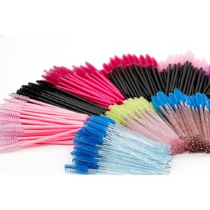 Eyebrow Eyelash Extension Brushes Cosmetic Spoolies Disposable Mascara Wands Applicator Brush Comb Micro Makeup Tools False Eyelashes